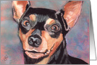 Miniature Pinscher Dog Breed Pet Art Painting All Occasion card