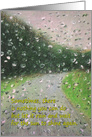 Thinking of You Coronavirus COVID 19 Encouragement Rain on Windshield card