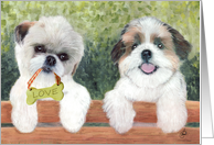 Cute I Love You Card Best Friend Puppy Painting card