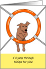 Dog Agility Trainer Teacher Coach Thank You card
