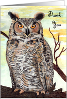 Owl Thank You for Giving Hoot card