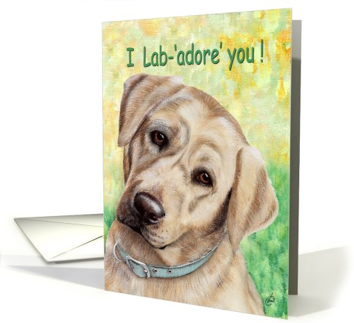 Father's Day Cute Lab Adore You from Dog card (606786)