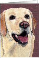 We Lab-'ADORE' you !!! Labrador Dog Breed Painting card
