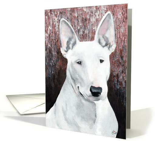 Bull Terrier Dog Breed Painting Happy Birthday card (788866)