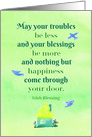 Happy St. Patrick's Day Neighbor Cottage Irish Blessing card
