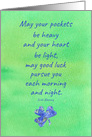 Happy St. Patrick's Day Brother Clover Irish Blessing card