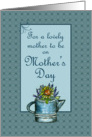 Happy Mother's Day Mother To Be Flower Bouquet Watercolor Art card