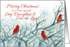 Merry Christmas Step Daughter Son in Law Red Cardinals card