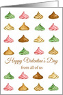 Happy Valentine's Day From All of Us Candy card