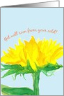 Get Well Soon From A Cold Sunflower card