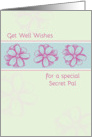 Get Well Soon Special Secret Pal Pink Flowers card