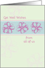 Get Well Soon From All Of Us Pink Flowers card
