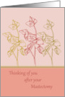 Thinking of you after mastectomy get well soon card