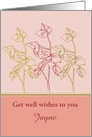 Get Well Wishes Custom Card Leaves Drawing card