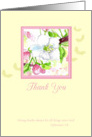 Thank You Scripture Cherry Blossom Flower Watercolor Art card