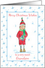 Merry Christmas Grandson Holiday Elf Snowflakes card