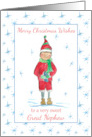 Merry Christmas Great Nephew Holiday Elf Snowflakes card
