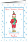 Merry Christmas Nephew Holiday Elf Snowflakes card