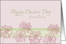 Happy Doctors' Day From All Of Us Daisy Botanical Art Mauve Floral card
