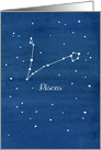 Happy Birthday Pisces Constellation Night Sky card