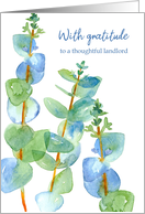 With Gratitude Thoughtful Landlord Eucalyptus card