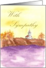 Lighthouse Sympathy Card Watercolor Landscape card