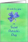 A Wish For You On Saint Patrick's Day Blue Clover card