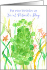 For Your Birthday On St. Patrick's Day Bells Of Ireland card