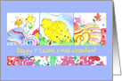 Happy First Easter Great Grandson Chickens card
