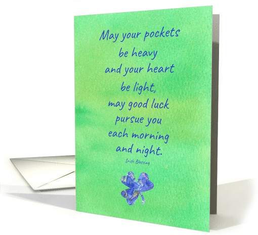 Happy St. Patrick's Day Brother Clover Irish Blessing card (1025249)