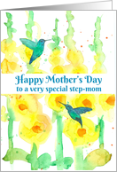 Happy Mother's Day To A Special Step Mom Hummingbirds card