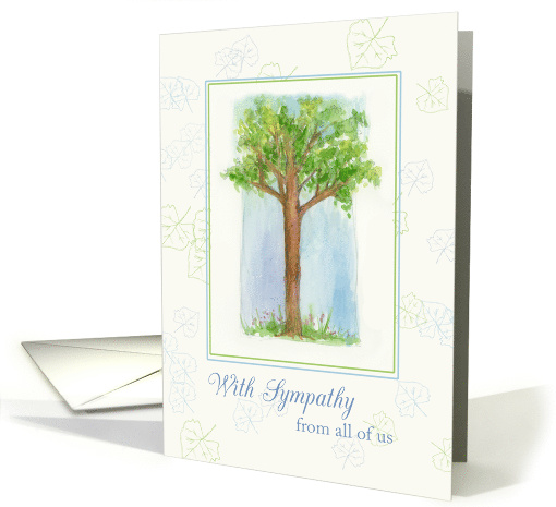 With Sympathy From All of Us Watercolor Illustration card (1125598)