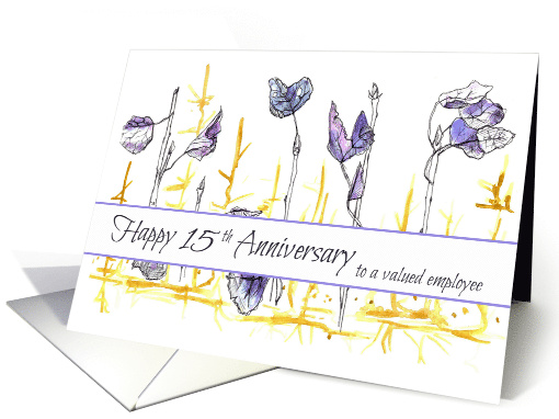 Happy 15th Anniversary Employee Business card (1146662)