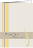 Thank You Janitor Yellow Stripes card