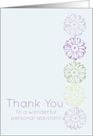 Thank You Personal Assistant Daisy Purple Flowers card