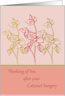 Thinking of you after cataract surgery get well soon card