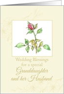 Wedding Congratulations Granddaughter and Husband Watercolor card