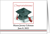 Graduation Congratulations Cap Diploma Custom card