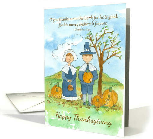 Happy Thanksgiving Pilgrims Religious Scripture 1... (1292182)