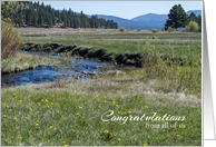 Congratulations From All of Us Mountain Creek Photography card