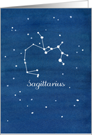 Happy Birthday Sagittarius Constellation Stars Night Sky card