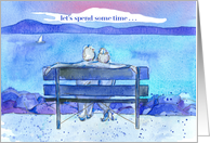 Let's Spend Some Time Together Romantic Couple Lake card