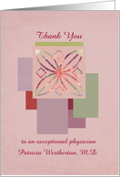 Thank You Medical Doctor Physician Healthcare Custom Name card