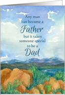Happy Father's Day Special Dad Mountain Lake card
