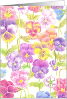 Hello Special Friend Pansy Flowers Illustration card