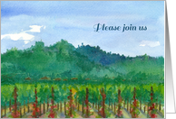 Vineyard Wine Tasting Please Join us Invitation card