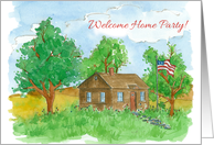 Welcome Home Invitation Military Patriotic Flag Country Home card
