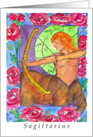 Happy Birthday Sagittarius Astrology Centaur card