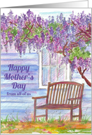Happy Mother's Day From All Of Us Wisteria Tree card