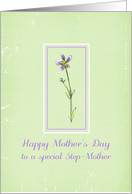 Happy Mother's Day Step-Mother Lavender Wildflower card